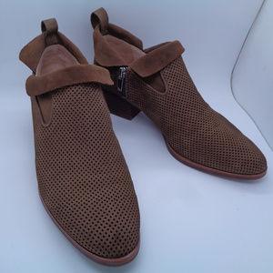 Via Spiga Suede Brown Bootie Size US 7 EUR 37